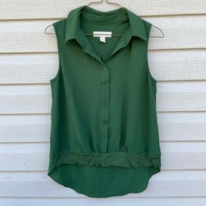 Michael Kors Womens Small Green Blouse Sleeveless